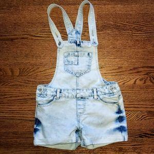Arizona stone wash overall shorts